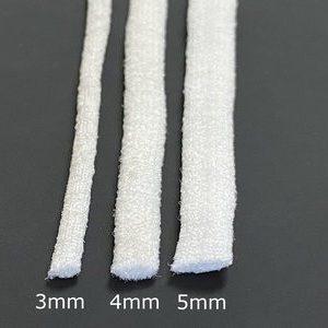Wit zacht plat elastiek 4mm - per meter